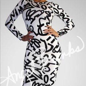 Dresses & Skirts - Spandex graffiti dress